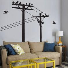 Telephone poles wall decal-the decorating not so much, but the wall decals I love!!!