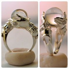 The Oracle - sterling ring and clear quartz sphere by kerinewton on deviantART. (This ring is made to order