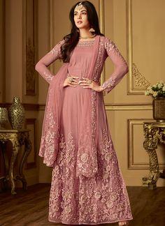 8a3d7d05e9 Buy Sonal Chouhan Pink Party Wear Anarkali Suit - Best Quality–Liinara  Designer Dresses,