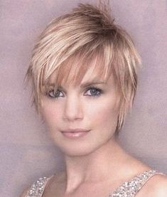 Long layered pixie cut on top and sides is easy to style to get an ultra trendy look.