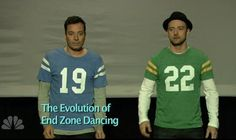 Jimmy Fallon and Justin Timberlake team up again -- The Evolution of End Zone Dancing