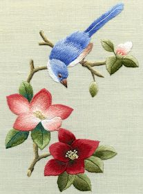 A Customer's Guide To Herbal Dietary Supplements On The Net Of Mice And Ramen: Needle Painting By Trish Burr Chinese Embroidery, Hand Work Embroidery, Brazilian Embroidery, Embroidery Needles, Crewel Embroidery, Hand Embroidery Designs, Ribbon Embroidery, Embroidery Patterns, Bordado Floral