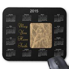 2015 Calendar by Janz Angel of Faith Mouse Pad