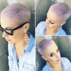 Pastel purple buzz cut by Katie Sanchez
