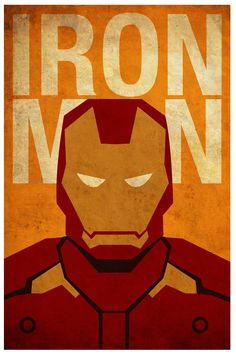 Vintage Minimalist Ironman Poster A3 Prints by MyGeekPosters