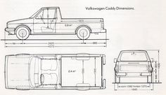 mk1 vw caddy - technical drawing