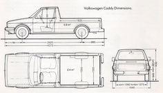 mk1 vw caddy - technical drawing