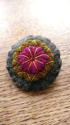 Elegant felt brooch by HetBovenhuis on Etsy. $9.99, via Etsy.