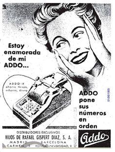 Addo pone sus números en orden. Gispert. Año 1955.