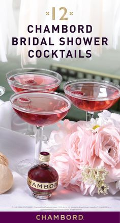When it comes to celebrating the bride-to-be, one thing is a must—a fruity cocktail of course! Check out this collection of 12 Bridal Shower Chambord Cocktail Recipes to see how Chambord Black Raspberry Liqueur can make this occasion even more fabulous!