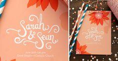 by #lovelypaperthings #weddings #invitations #confetti #handlettering