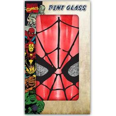 Silver Buffalo MC70031PG Marvel Spiderman Eyes Boxed Single Pint Glitter Glass 16 oz Red * You can get additional details at the image link.Note:It is affiliate link to Amazon.