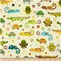 Creatures & Critters Stripes White/Brown/Multi - Discount Designer Fabric - Fabric.com