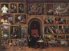 Archiduque Leopoldo Guillermo de Austria en su Galería de 1651 - David Teniers el Joven