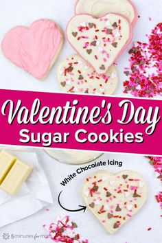Valentine's Day Sugar Cookies with White Chocolate Icing The easiest Valentine's Day sugar cookies! These Valentine cookies are so fast and simple to decorate because they use white chocolate for icing. Valentine Desserts, Valentine Cookies, Valentine Ideas, Funny Valentine, Holiday Desserts, Sweet Desserts, Easy Desserts, Mocha Cheesecake, Low Carb Cheesecake