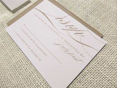 Modern Brown Gold Ivory White Invitations Wedding Invitations Photos & Pictures - WeddingWire.com