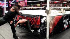 Roman Reigns vs. Seth Rollins & Kane – 2-on-1 Handicap Match: Photos | #WWE.com