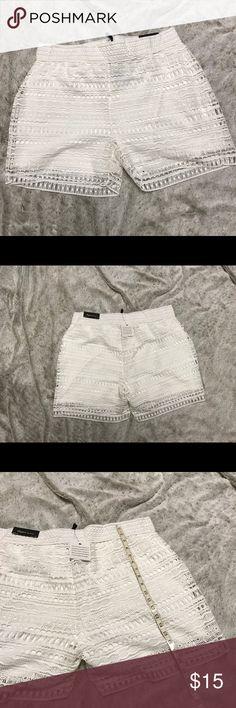White lace shorts Size XL White lace shorts Size XL Skye's the Limit Shorts