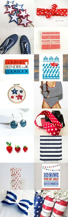 Stars and Stripes for Summer by Sarah on Etsy--Pinned with TreasuryPin.com