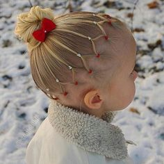 Cute look for little girls with fine hair.