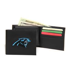 Carolina Panthers NFL Embroidered Billfold Wallet