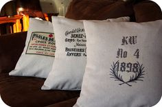 Canvas French pillows