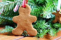 The Kitchen is My Playground: Easy 3-Ingredient Cinnamon Ornaments  Cinnamon, applesauce glue is all you need!