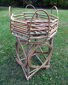 Buy rustic willow furniture & decor for your home online. We ship anywhere in the US! Willow Furniture, Rustic Furniture, Garden Furniture, Furniture Decor, Wood Projects, Projects To Try, Sticks Furniture, Bamboo Garden, Lodge Decor