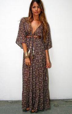 The Bohemian Dress - DRESSES - Shop Online .boho dress. bohemian fashion.. www.volaga.com