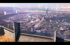Space Fantasy, Fantasy City, Fantasy Castle, Fantasy Places, Fantasy World, Gate Of Babylon, I'm Still Here, Lost City, Futuristic Architecture