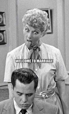 marriage humor, happy anniversary, wedding cards, balls, lucy quotes
