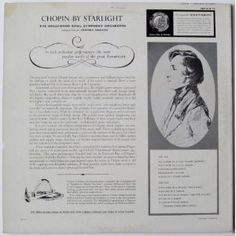 Chopin By Starlight: The Hollywood Bowl Symphony Orchestra - I was listening to this before I started to school. I remember trying to copy this drawing of Chopin on the back of the album.