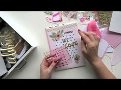 Pink and gold snail mail tutorial - YouTube