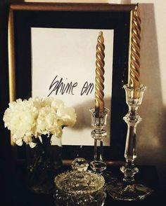 Bedroom / Nightstand decor / Candles