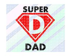 Super Dad Cutting File, Svg- Dxf- Fcm- Png, Cut Files For Silhouette Cameo/ Cricut, Svg Download. by CutItUpYall on Etsy