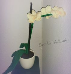 Orchidee Häkelanleitung