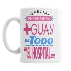 Taza Para la Enfermera más Guay de todo el Hospital regala a tu enfermera la mejor taza personalizada - ideal para el día de la sanidad o día del enfermero