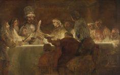 Η συνωμοσία των Μπαταβανών υπό τον Κλαύδιο Κίβιλο, 1661 - 1662. Με ένα νυχτερινό τελετουργικό οι Μπαταβανοί δηλώνουν την απόφασή τους να ανατρέψουν ρωμαϊκή κυριαρχία. Αυτή η εξέγερση έλαβε χώρα το 69 μ.Χ. και οδηγήθηκε από τον μονόφθαλμο οπλαρχηγός Κλαύδιο Κίβιλο, που απεικονίζεται στο κέντρο του πίνακα. Ο Ρέμπραντ απεικονίζει τη στιγμή που οι Μπαταβανοί ορκίζονται χτυπώντας τα σπαθιά τους και σηκώνοντας τα ποτήρια τους. Η τραχιά κατασκευή και η ισχυρή αντίθεση του φωτός και του σκοταδιού…