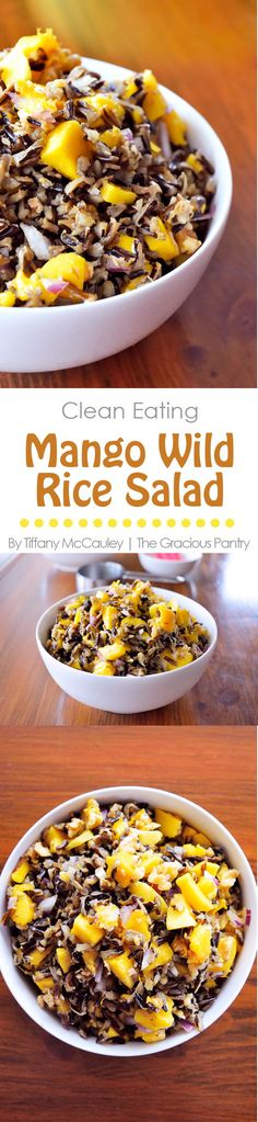 Clean Eating Recipes | Clean Eating Mango Wild Rice Salad Recipe | Wild Rice Recipe #CleanEating #Vegan #PlantBased