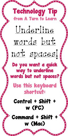 Underline words but not spaces with this simple keyboard shortcut!