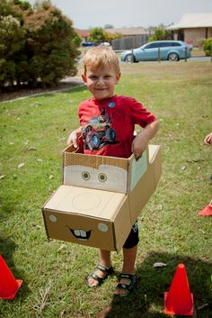 Mater made from a cardboard box