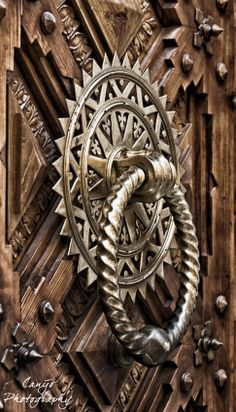 door knocker.