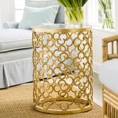 Decorative Crafts Wrought Iron Small Wembley Table 8449