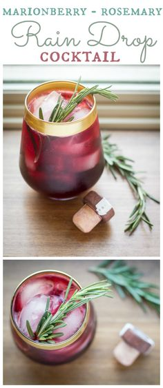 The surprising combination of sweet marionberry and fragrant rosemary make this simple cocktail more refreshing than a rain drop!