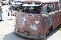 Slammed VW bus