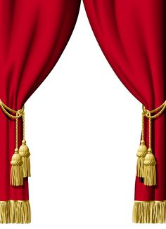 Red Curtain Decoration PNG Clipart