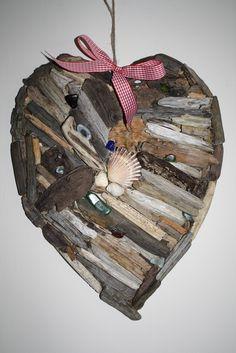Kentish Driftwood / Shell/Beach Glass Heart