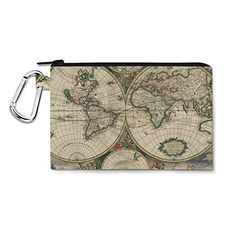 1689 Antique World Globe Map Canvas Zip Pouch - Medium Canvas Pouch 8x6 inch - Multi Purpose Pencil Case Bag in 6 sizes Queen of Cases http://www.amazon.co.uk/dp/B011RDCGN2/ref=cm_sw_r_pi_dp_4Pj7vb0FYCYKS