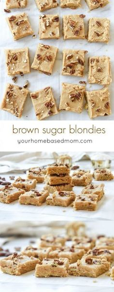 Brown Sugar Frosted Blondies Recipe - These are chewy and delicious and the flavor is amazing. My favorite part is the frosting on top!