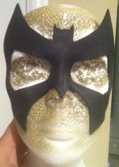 Easy tutorial for making a shaped super hero mask from craft foam. (Tempted to try this!)
